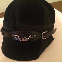 Dolce & Gabbana Womens Velur Dark Blue Hat Size 58 Made in Italy Photo