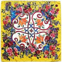 Dolce & Gabbana Yellow Majolica Floral Border 27
