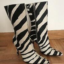 Dolce & Gabbana Zebra Print Boots Size 6 Photo