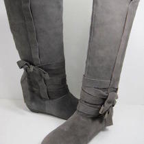 Dolce Vita Amber Graphite Suede Boots Womens Us 8 Photo
