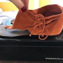 Dolce Vita Aries Orange Suede Cuff Sandals Thong Size 9 Photo