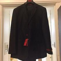 Dolce Vita Black Mens Suit 46l With Pants Photo