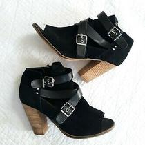 Dolce Vita Black Open Toe Ankle Booties Size 8.5 Photo