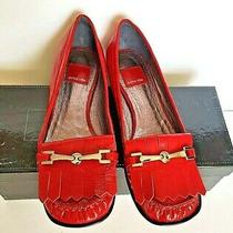Dolce Vita Brand New Women's Patent Leather Flats Red Size 8   Photo