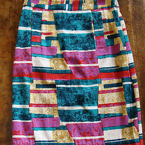 Dolce Vita Brightly Colored Stained Glass Pencil Skirt Anthropologie Xs 2 4 Photo