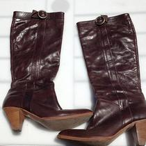 Dolce Vita Brown Leather Cone Boots Photo