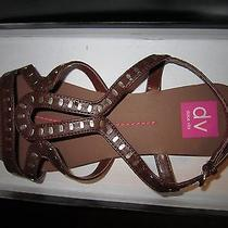 Dolce Vita Brown Leather Sandals Size 9m. Streppy Sandals Oakland Style. Photo