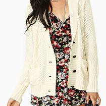 Dolce Vita Corvan Cable Cardigan New With Tags Medium Cream Color Photo