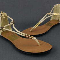 Dolce Vita Cream Leather Thong Sandals Size 7 Photo