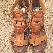 Dolce Vita Dv Cork Wedge Tan Leather Size 8 Photo