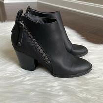 Dolce Vita Dv Womens Jameson Double Zip Black Heeled Bootie Size 9 Photo