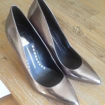 Dolce Vita High Heel Poined Toe Pumps   New With Box (Size  9) Pewter  Leather  Photo