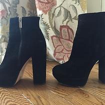 Dolce Vita Jemma Platform Black Suede Ankle Boots Sz 9.5 Photo