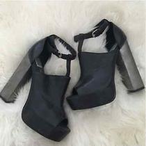 Dolce Vita Juliet Black & Silver Platforms Heels Campbell 9.5 Lita Leather Photo
