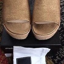 Dolce Vita Layla Espadrille Slides Sandals Dark Gold Leather  Size 8.5m Photo