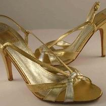 Dolce Vita Metallic Leather Heels 7 Photo
