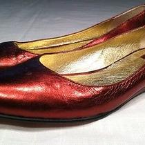 Dolce Vita Metallic Red Flats Size 7.5 Photo