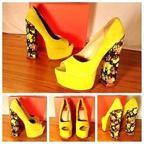 Dolce Vita Nwb Sexy Neon Green Floral Platform Cute Stiletto Pump Heels 9.5 200 Photo