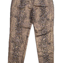 Dolce Vita Pants Urban Outfitters Gold Python Print Iridescent Spectacular Sz S Photo