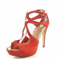 Dolce Vita Red Suede Strappy Platform Pumps Sandals Womens Size 8.5 M  Photo
