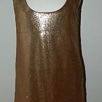 Dolce Vita Rose Gold Sequin Sleeveless Dress Size S Pockets Photo