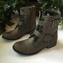 Dolce Vita Size  8.5 Military Boots Grunge Brown Leather Photo