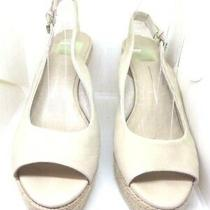 Dolce Vita Suede Leather Wedge Sandal Espadrilles Nude Tan Gold Shoes 7  120 Photo
