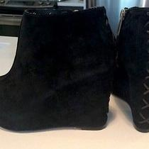Dolce Vita Suede Peeptoe Wedge Boots Like Jeffrey Campbell Tick Photo
