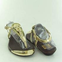 Dolce Vita Thong Gold Sandals Womens Size 8 M Used 85 Photo