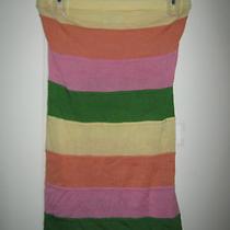 Dolce Vita Usa Colorful Retro Striped Strapless Super Cute Top Blouse S Photo