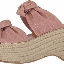 Dolce Vita Women's Lera Espadrille Wedge Sandal Blush Linen Size 9.5 Photo