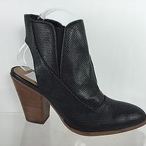 Dolce Vita Womens Black Leather Heels 6 Photo
