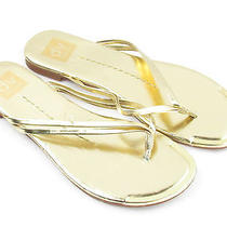 Dolce Vita Womens Gold 7m Flip Flop Thong Sandal  Photo