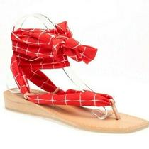 Dolce Vita Womens Henlee Open-Toe Slide Sandals Red Size 7.5 M Us Photo