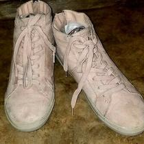 Dolce Vita Womens Hi Top Zip or Lace Up Sneakers Nude Pink Faux Suede Size 10m Photo