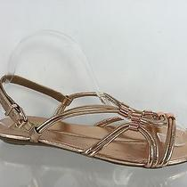 Dolce Vita Womens Metallic Rose Gold Sandals 8 Photo