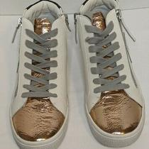 Dolce Vita Zonya Leather Tennis Shoes Size 8 Copper Metalic Sneakers New  Photo