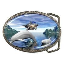 Dolphin Fantasy Belt Buckle Photo