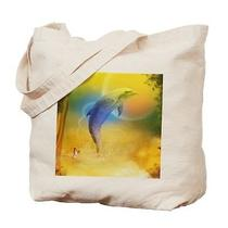 Dolphin Fantasy Tote Bag Canvas Shopping Purse Beach Casual Washable New Photo
