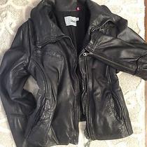 Doma - Black Lamb Leather Jacket - Size Large Photo