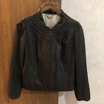 Doma Women's Size Small S Mock Neck Motorcycle Leather Jacket Photo