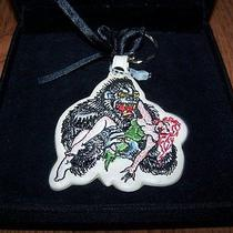 Don Ed Hardy Leather Gorilla Keychain Key Ring in Velvet Box  Nwot Photo