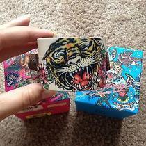 Don Ed Hardy Leather Tiger Cuff Bracelet by Christian Audigier  Photo