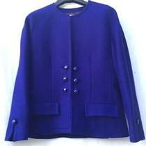 Donald Campbell at Chatelaine Vintage Total Blue Quirky Wool Jacket Size 12 Photo