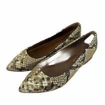 Donald J Pliner Adoresp Leather Python Metal Studs Pointed Toe Womens Sz Us 5.5m Photo