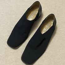 Donald J Pliner Alas Sport Travel Heels Loafers Navy Blue Shoes Womens Size 8 M Photo