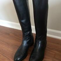 Donald J Pliner Bixbi 3-35 Black Leather Zip Knee Riding Boots Womens Size 7.5 M Photo