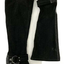 Donald J Pliner Black Knee High Roula Heeled Boots Pull on Women's Size 7.5 . Photo