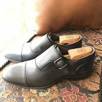 Donald J Pliner Black Leather Buckle Monkstrap Dress Shoes Sz 8 New Retail 275 Photo