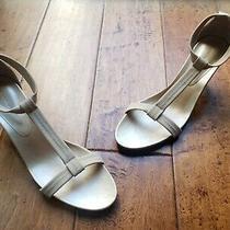Donald J Pliner Bozie Women's Cream T Strap Sandals Size 12m Us Heels Leather Photo